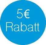 5 EUR Rabatt