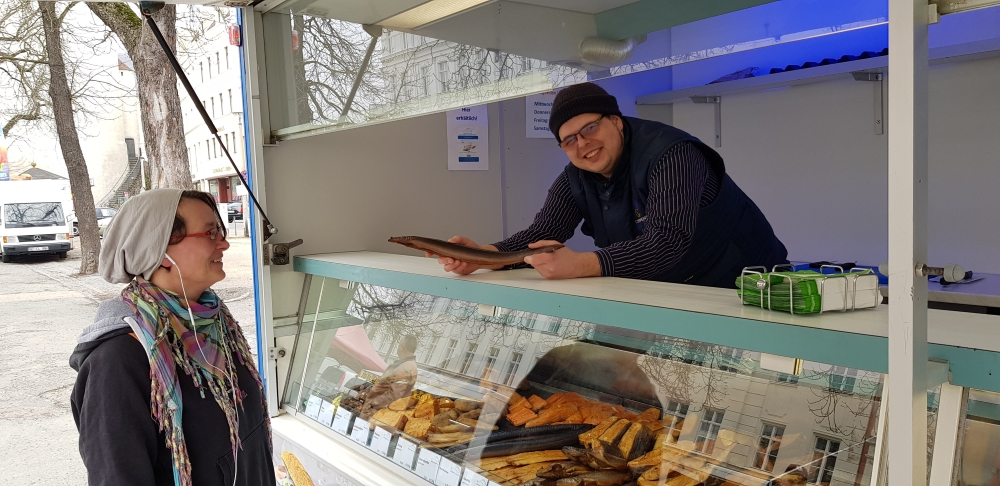 Fischanhänger Wochenmarkt Görlitz